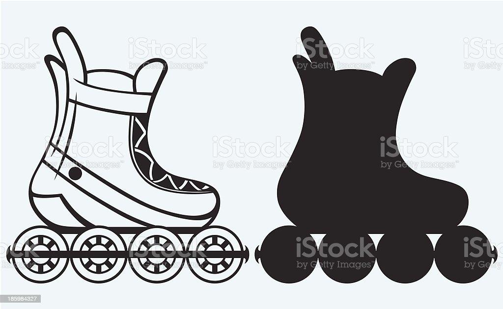 ローラー スケート イラスト