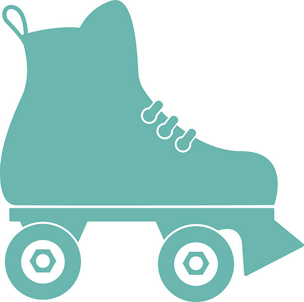 roller skate - rollschuh stock-grafiken, -clipart, -cartoons und -symbole