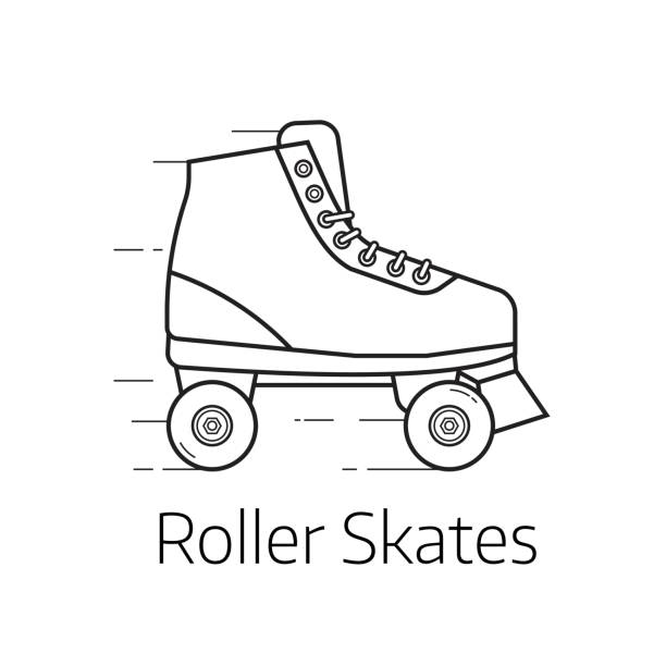 rollschuhe-symbol - rollschuh stock-grafiken, -clipart, -cartoons und -symbole