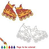 Roller skates. Kid children game