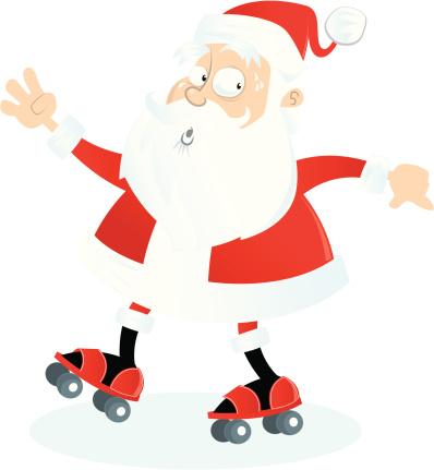 Roller Skating Santa
