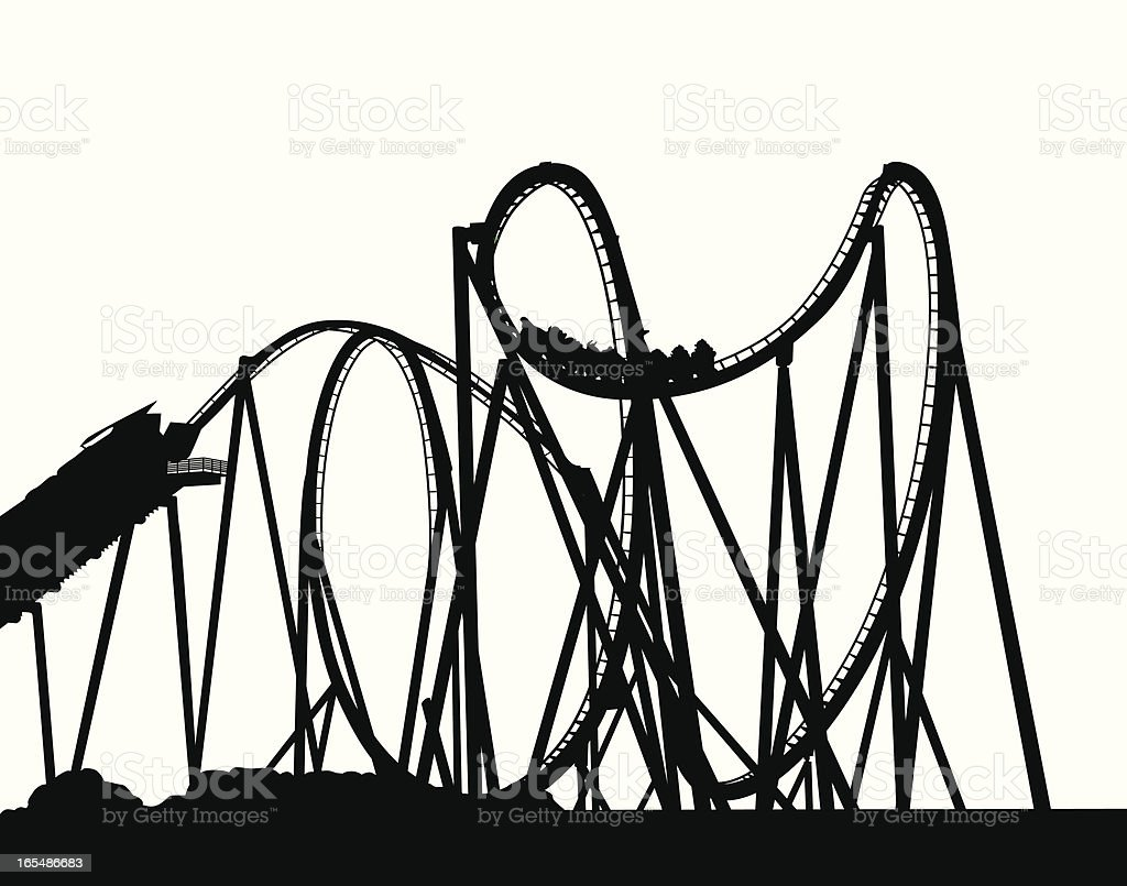 royalty free roller coaster white background clip art vector images rh istockphoto com roller coaster clipart transparent background roller coaster clipart free