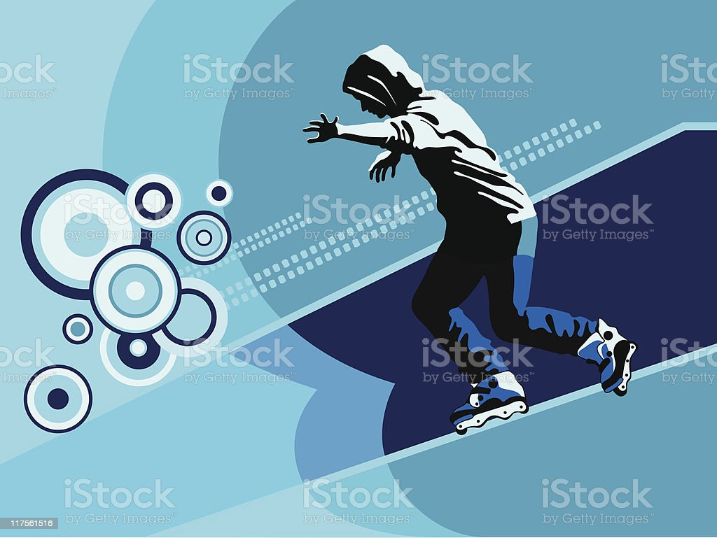 Rollerblading royalty-free rollerblading stock vector art & more images of activity
