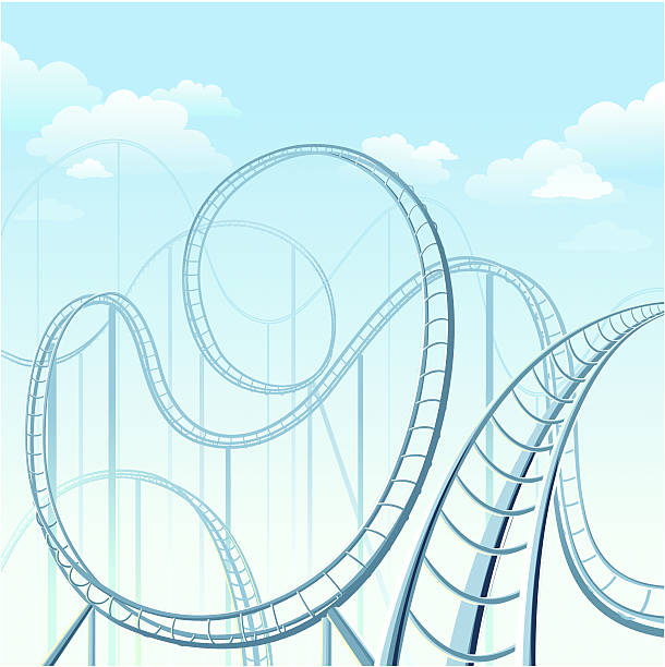 rollercoaster - roller coaster stock illustrations