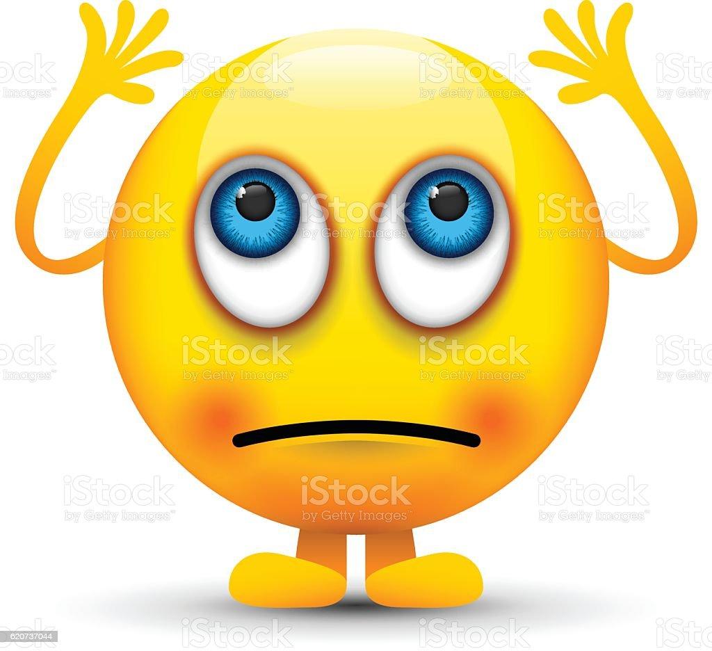 rolling eyes emoji character vector art illustration