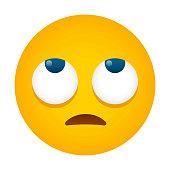 istock Rolling Eyes Emoji Icon 1318016937