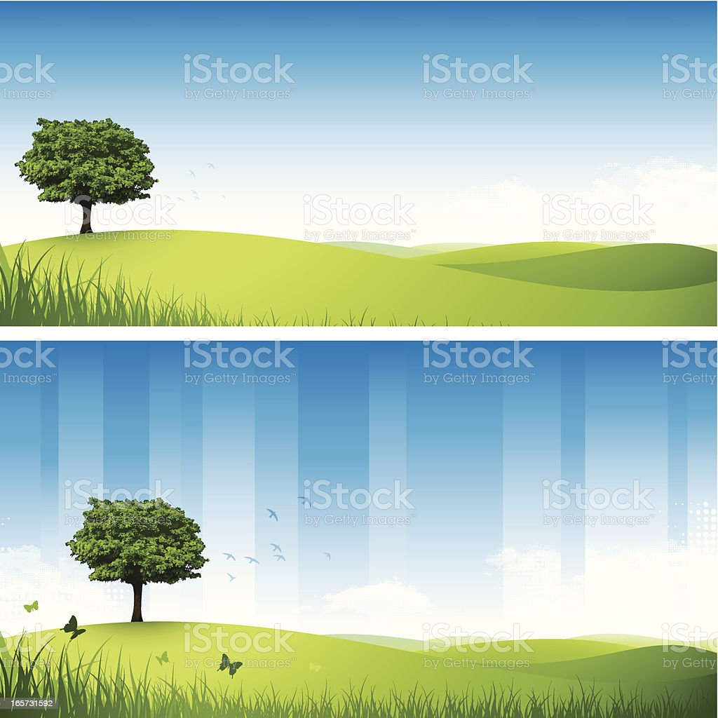 Rolling hills royalty-free stock vector art