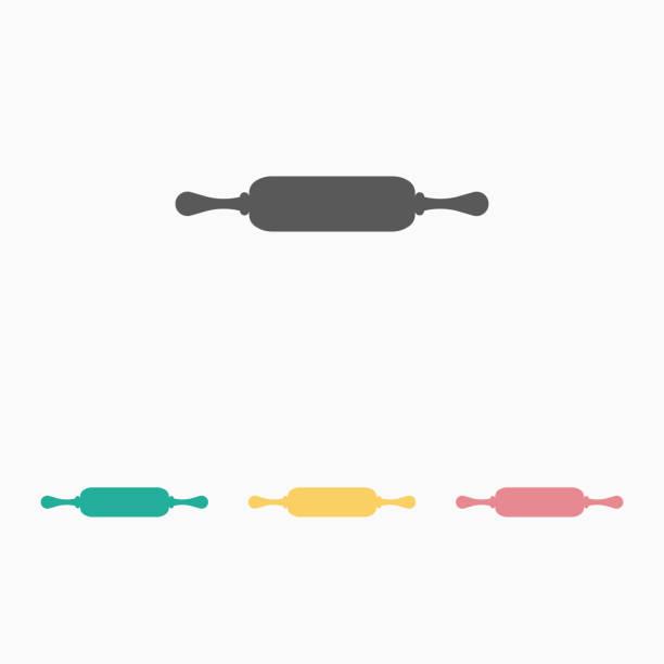illustrazioni stock, clip art, cartoni animati e icone di tendenza di rolling pin icon - impastare