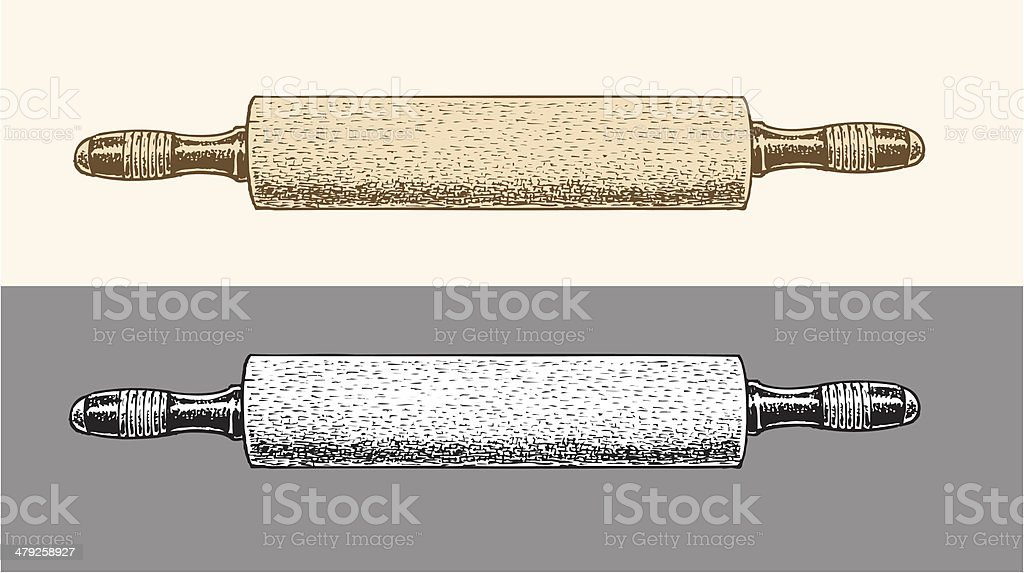 Rolling Pin royalty-free stock vector art