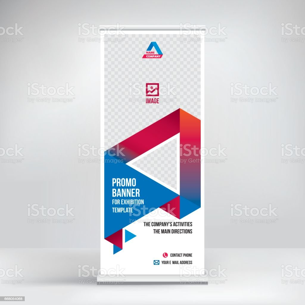 roll up banner stand vector royalty free rollup banner stand vector stock