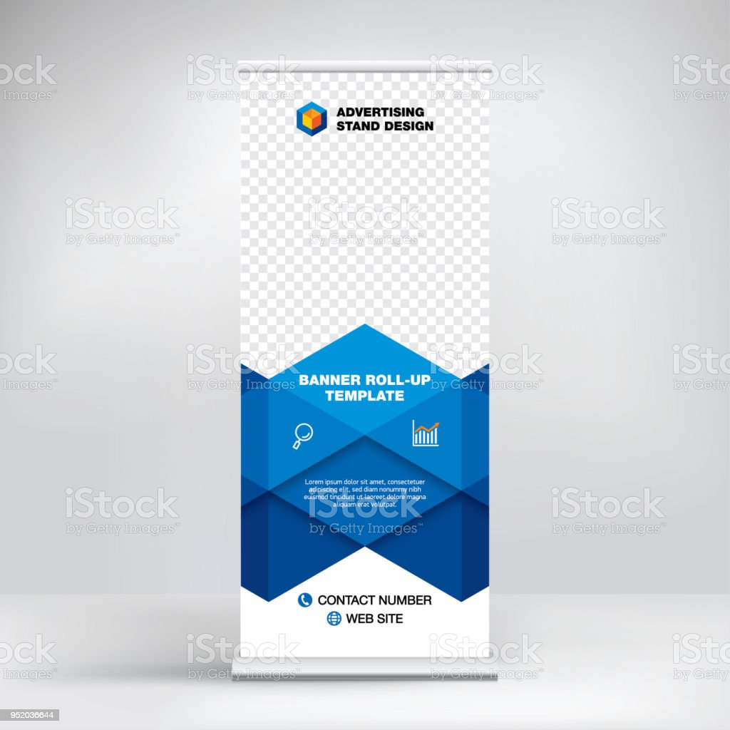 rollup banner template advertising stand design layout for seminars