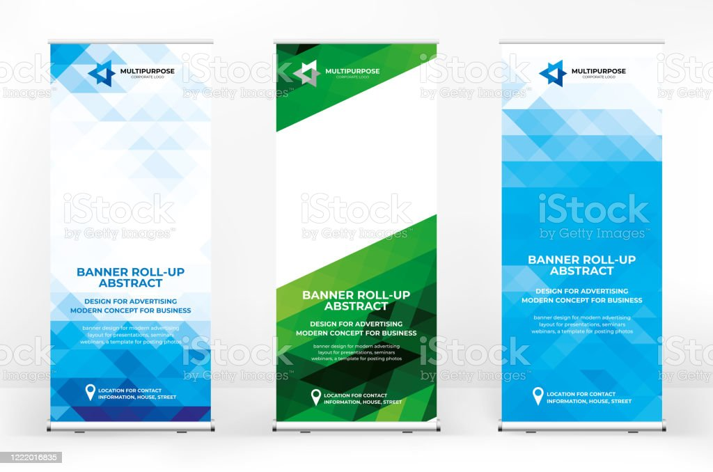 Rollup Design Set Creative Banner Abstract Background Banner For Presentations Advertising Of Products And Events Background For A Brochure Or Booklet Advertising Background Stock Illustration Download Image Now Istock