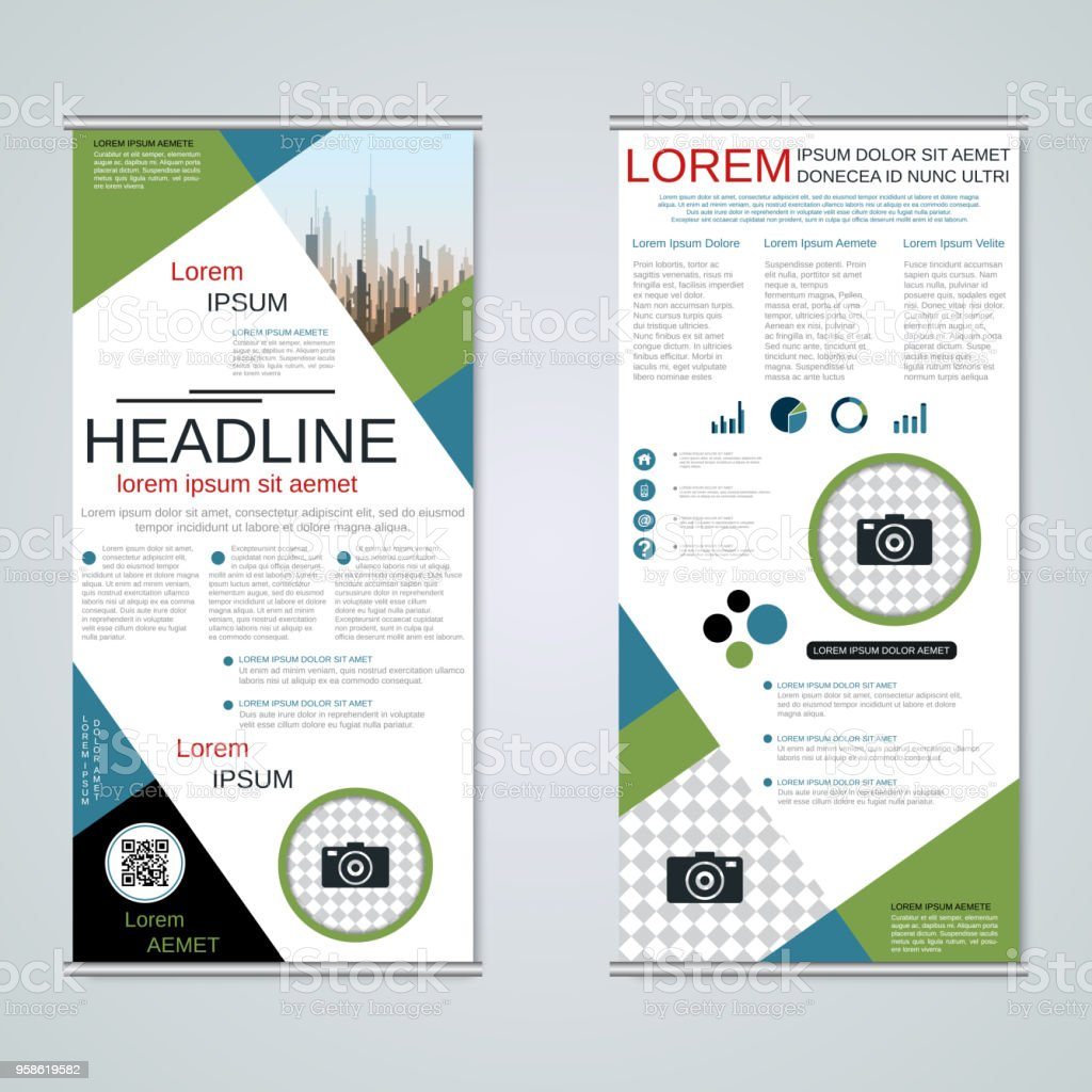 Rollup Twosided Banner Vector Template Stock Vector Art & More