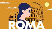 Roma, Colosseum, Poster, Travel, Hipster