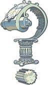 Roman Architecture Question Mark Vector Clip Art