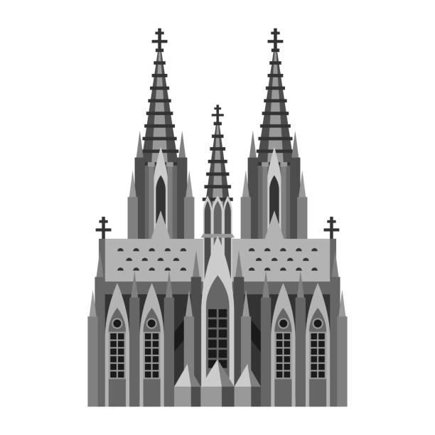 römisch-katholischer dom in köln. - köln stock-grafiken, -clipart, -cartoons und -symbole