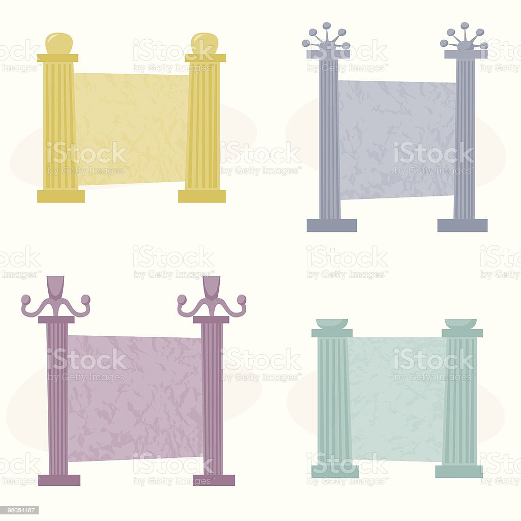 Romano colonna Frame romano colonna frame - immagini vettoriali stock e altre immagini di antico - condizione royalty-free