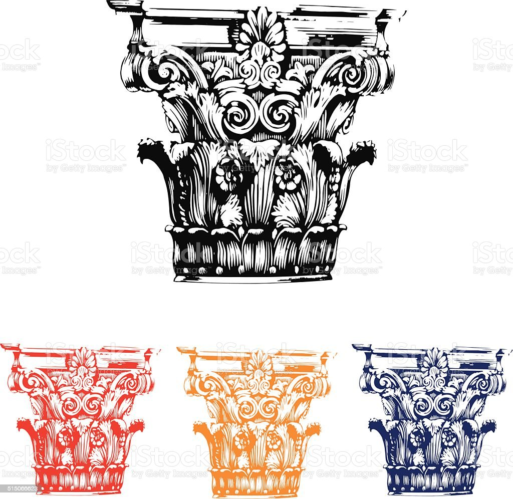 Roman Column vector art illustration