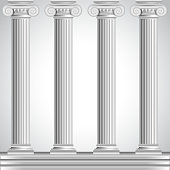 Roman columns isolated on white background