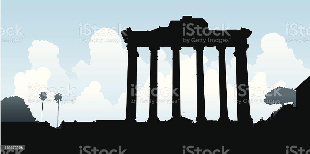 Roman Columns royalty-free stock vector art