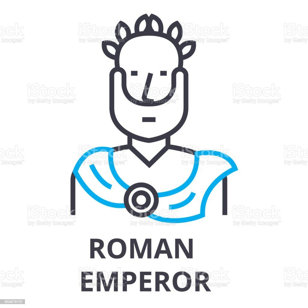 Rmische Kaiser Dnne Liniensymbol Zeichen Symbol Formvorsignale