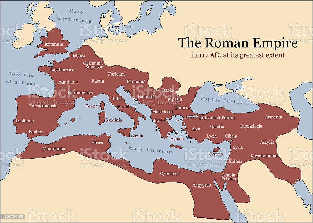 Roman Empire Provinces vector art illustration
