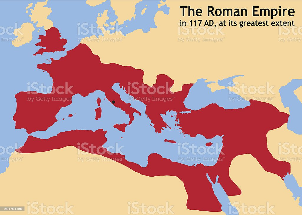 Roman Empire vector art illustration