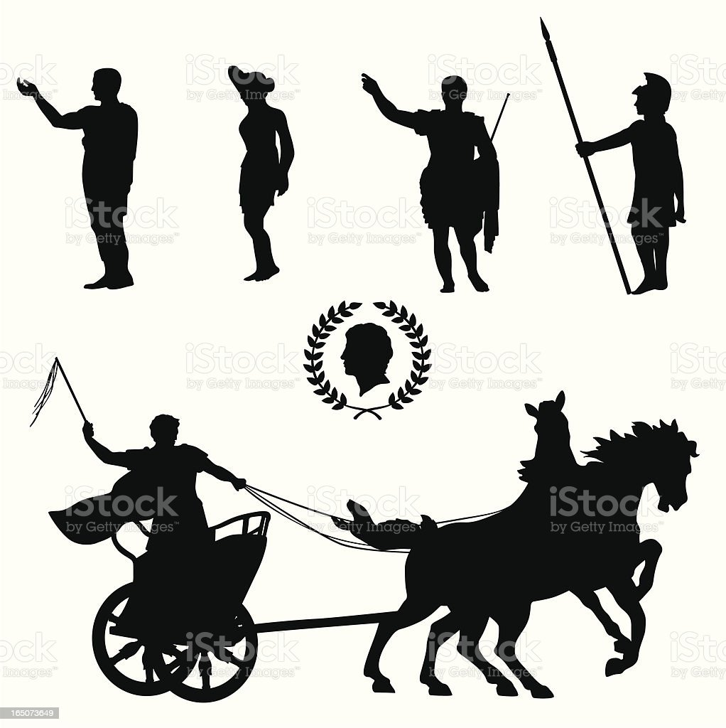Roman Empire Vector Silhouette vector art illustration
