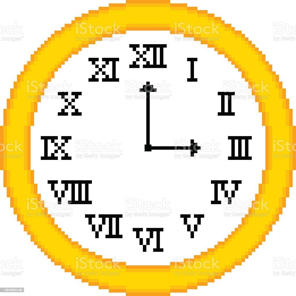 952913e18c Algarismo Romano relógio em um estilo Retro de 8 bits algarismo romano  relógio em um estilo