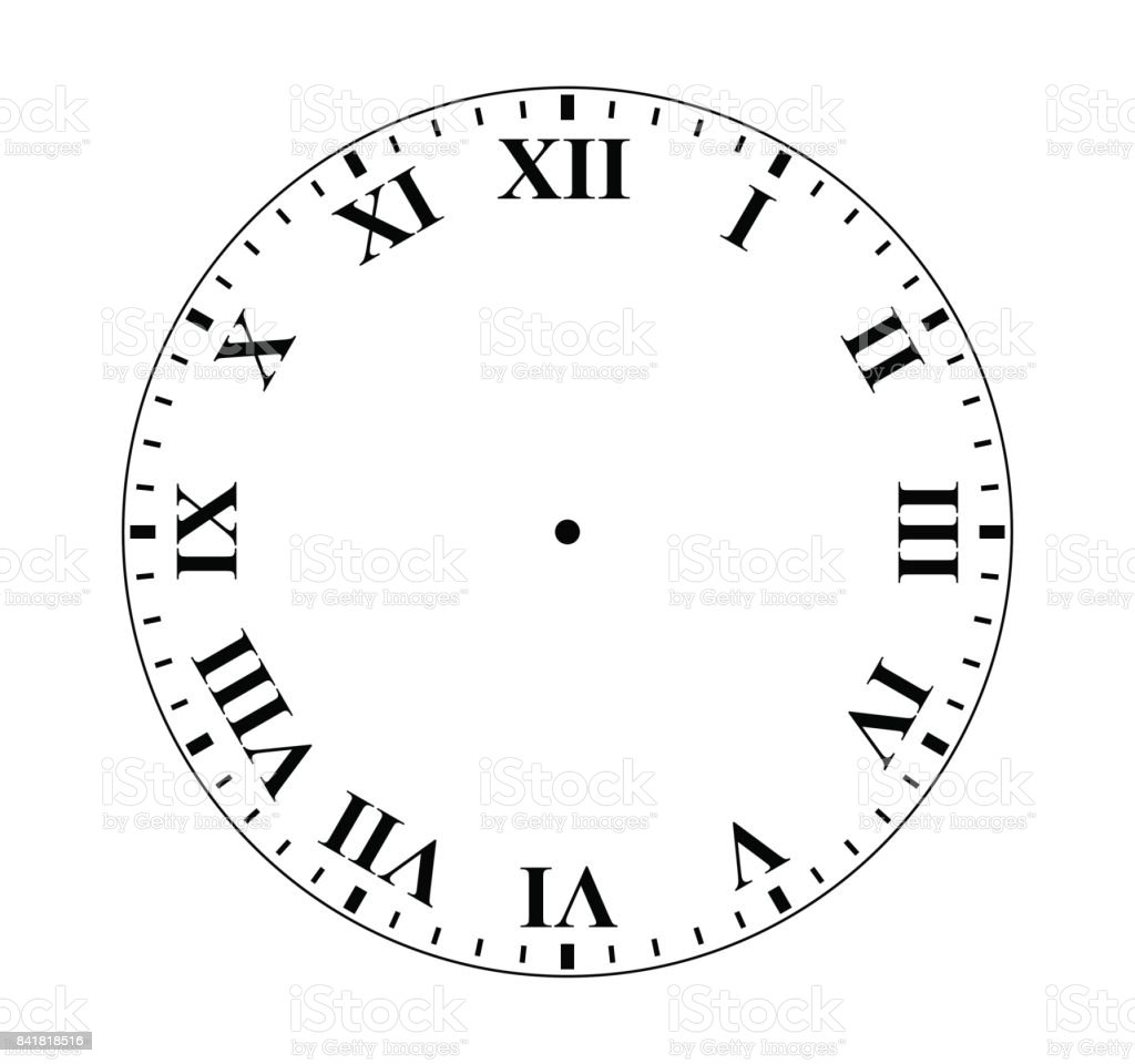 Roman Numeral Clock Stock Vector Art Amp More Images Of