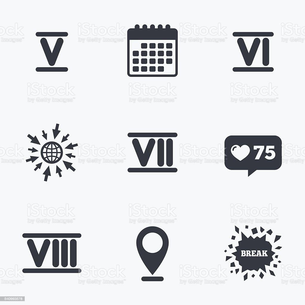 chiffre romain ic nes num ro 5 6 7 vecteurs libres de droits et plus d 39 images de application. Black Bedroom Furniture Sets. Home Design Ideas