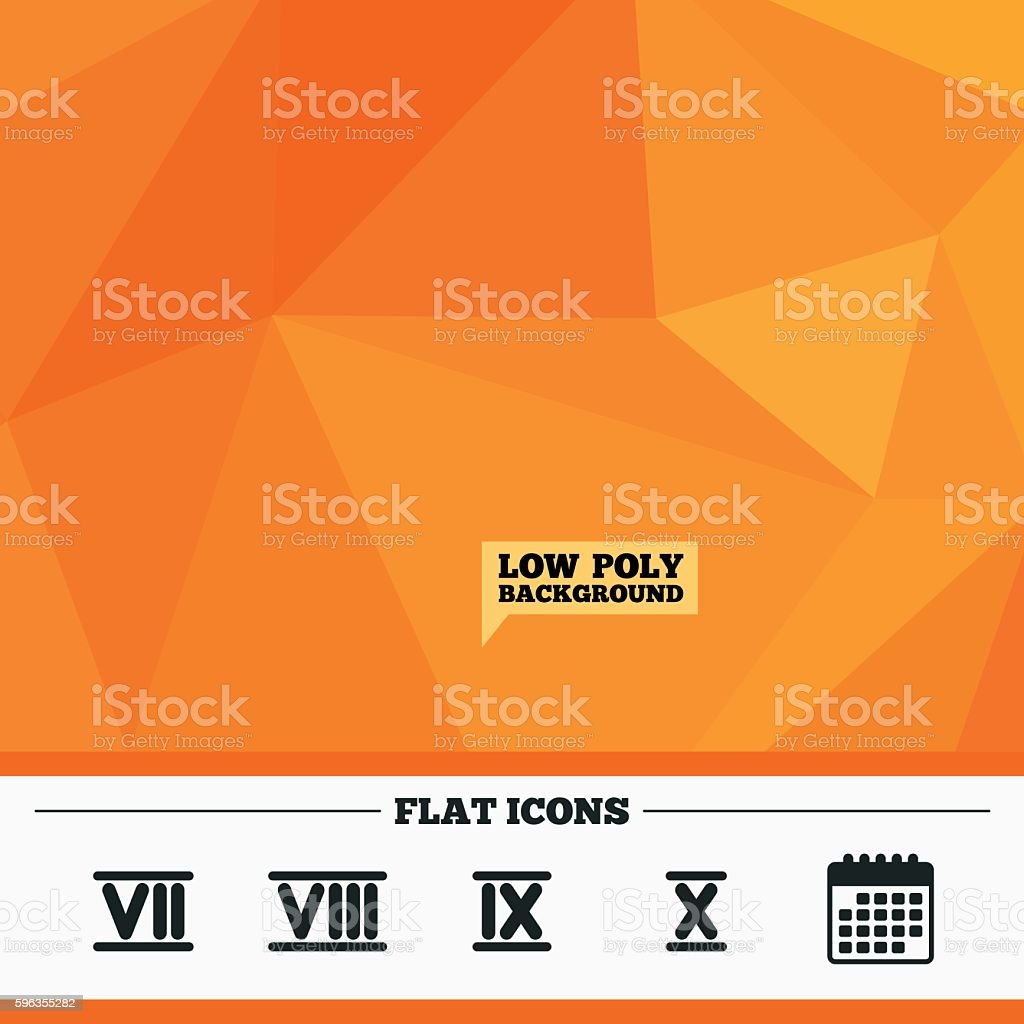 Roman numeral icons. Number seven, nine, ten. royalty-free roman numeral icons number seven nine ten stock vector art & more images of backgrounds