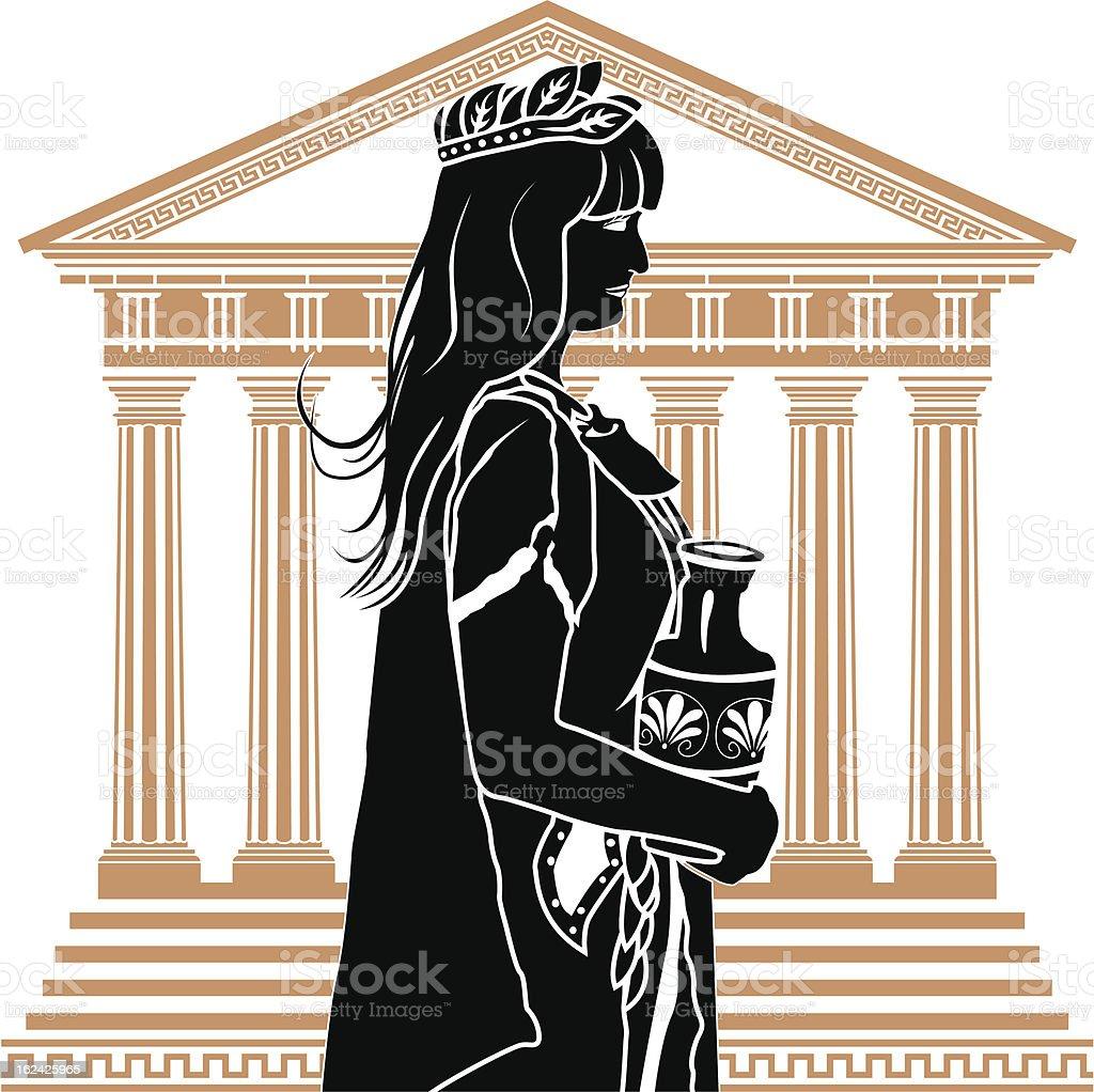 Roman patrician woman royalty-free stock vector art
