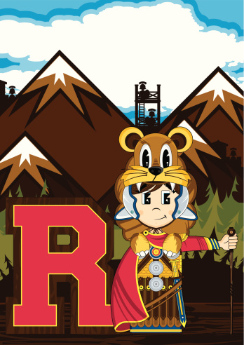 Roman Soldier Learning Letter R