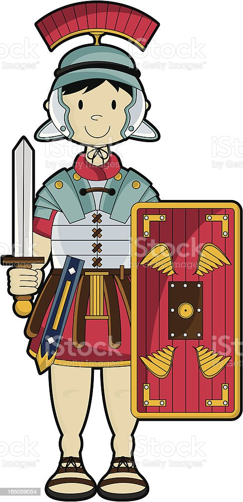 Roman Soldier no Background royalty-free stock vector art