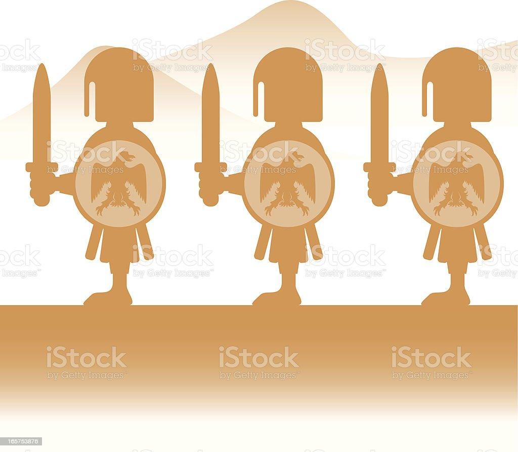 Roman Swordsman royalty-free stock vector art