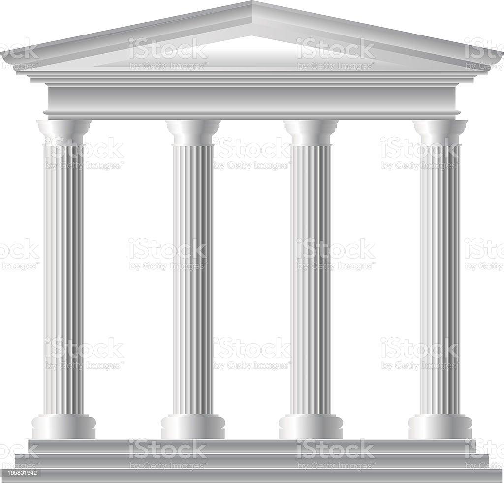Roman Temple vector art illustration