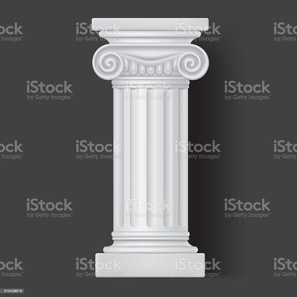 Roman vector white column icon vector art illustration