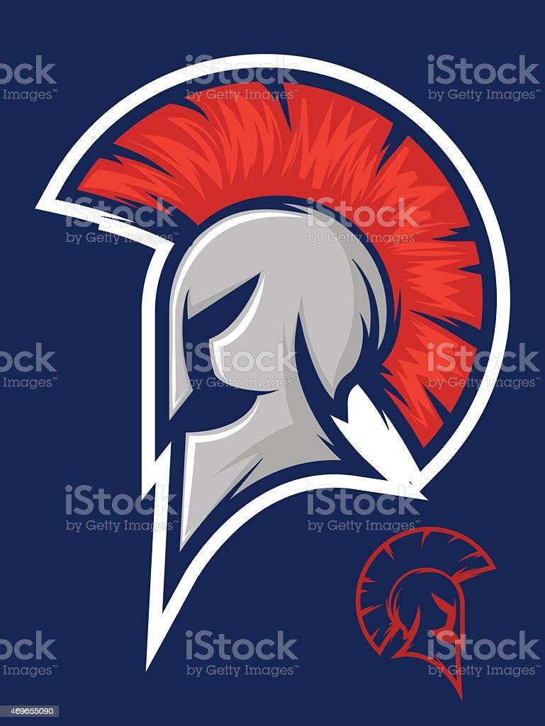 Roman Warrior Mascot vector art illustration