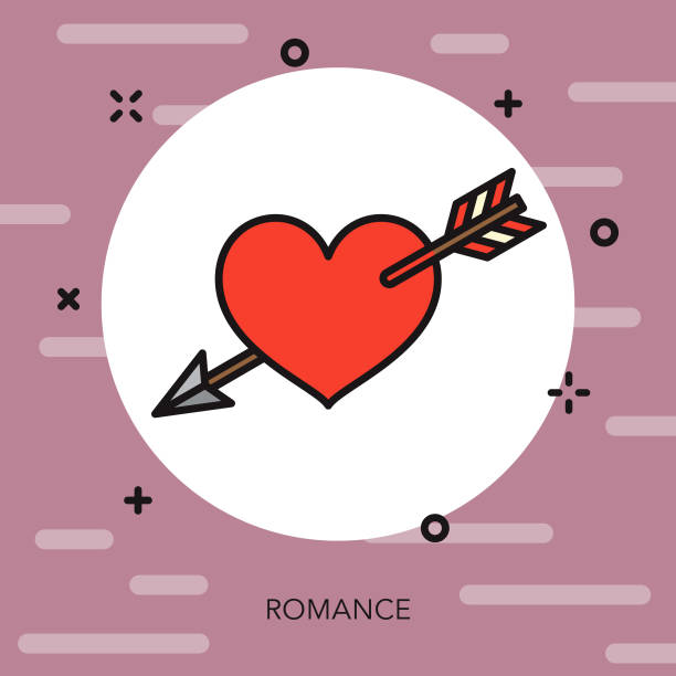 ロマンスの細い線フランス アイコン - 細線のフォント点のイラスト素材/クリップアート素材/マンガ素材/アイコン素材