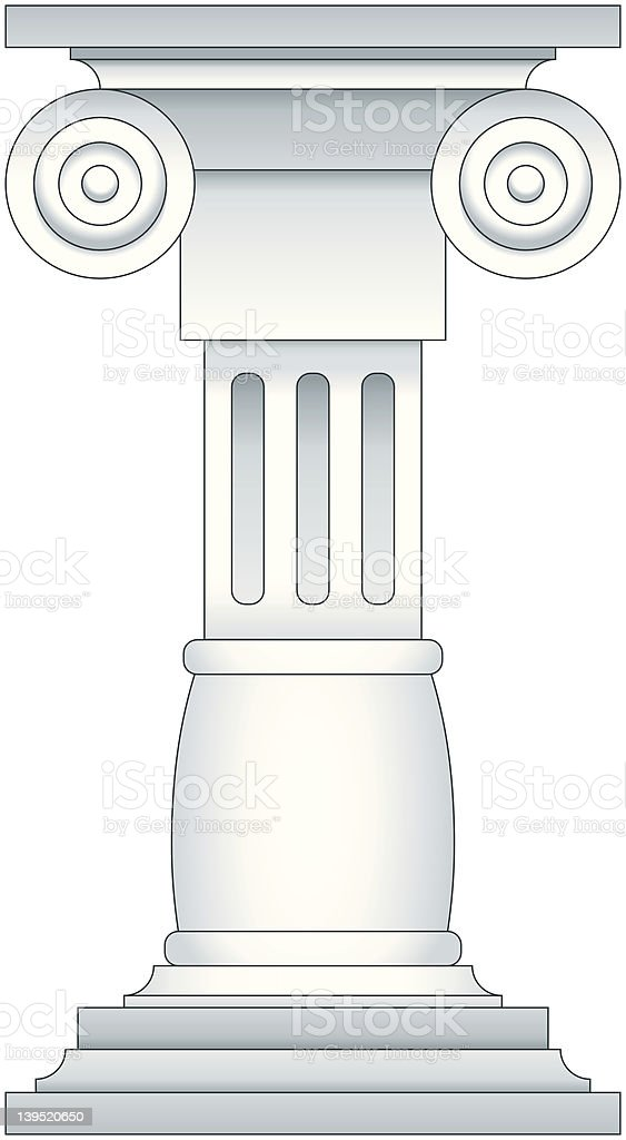 Romanesque Pedestal royalty-free stock vector art