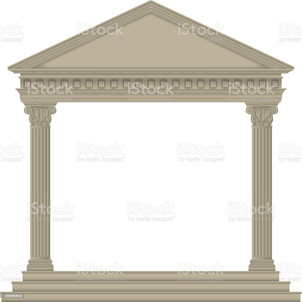 Roman/Greek Temple royalty-free stock vector art