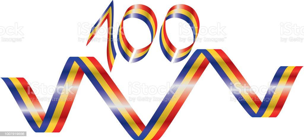 Romania centennial anniversary vector art illustration