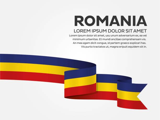 Romania flag background Romania, country, flag, vector, icon romania stock illustrations