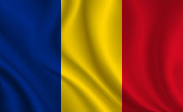 Romania flag background Romania flag background romania stock illustrations