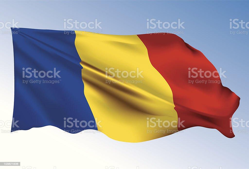 Romania flag royalty-free stock vector art
