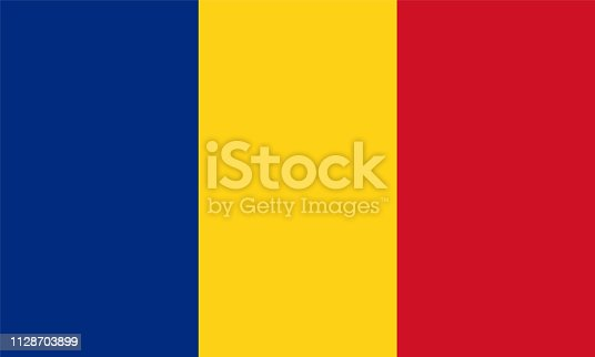 Romania Flag, Vector image and icon