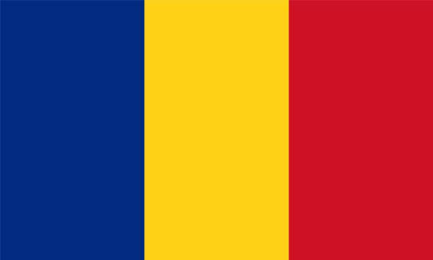 Romania Flag Romania Flag, Vector image and icon romania stock illustrations