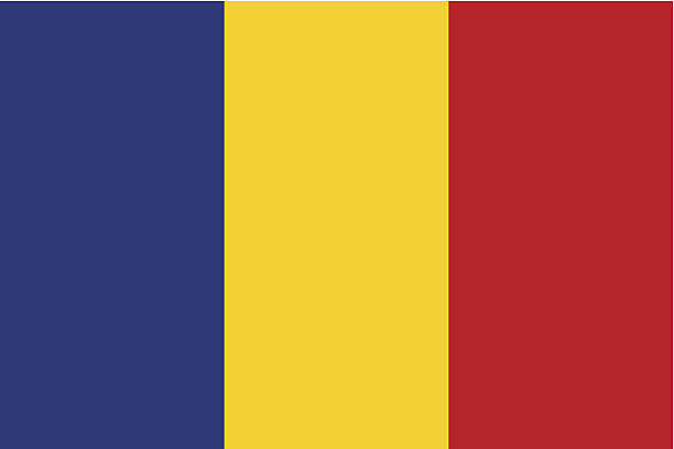 stockillustraties, clipart, cartoons en iconen met romania flag - roemenië