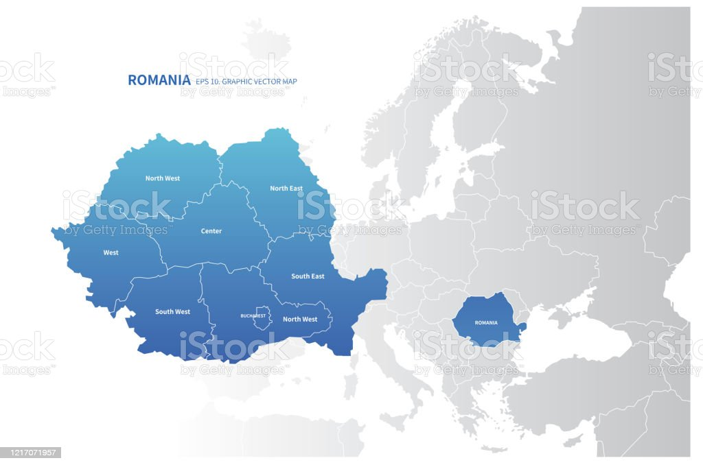 Picture of: Romania Map Vector Map Of Romania In Europe Stock Illustration Download Image Now Istock